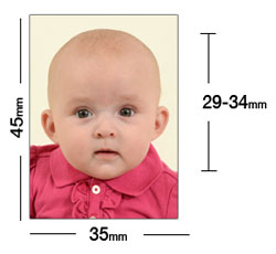 Baby passport photo requirements