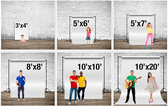 Choose the size of your backdrops