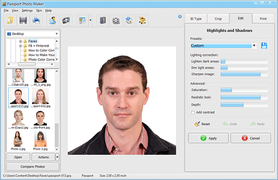 Retouch your passport photo
