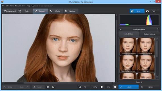 Order an image editing program
