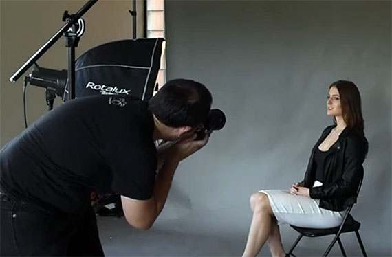 The profession of a portrait photographer