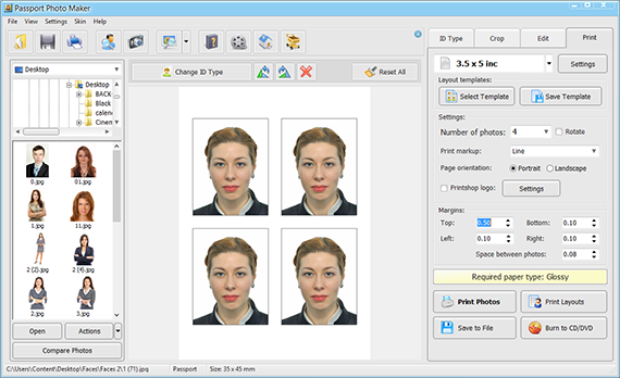 Print your finished ID photo