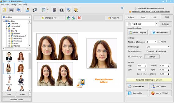 Professional Passport Photo Software
