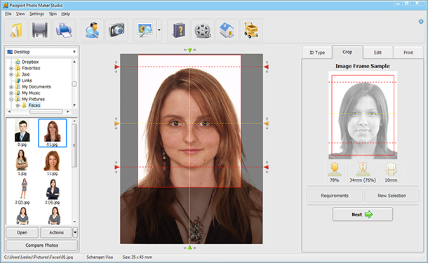 How to make a visa photo with Passport Photo Maker